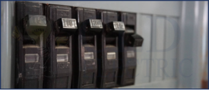 breakers on an electrical panel