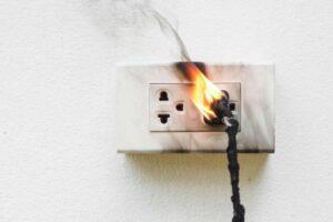 plug in burning outlet